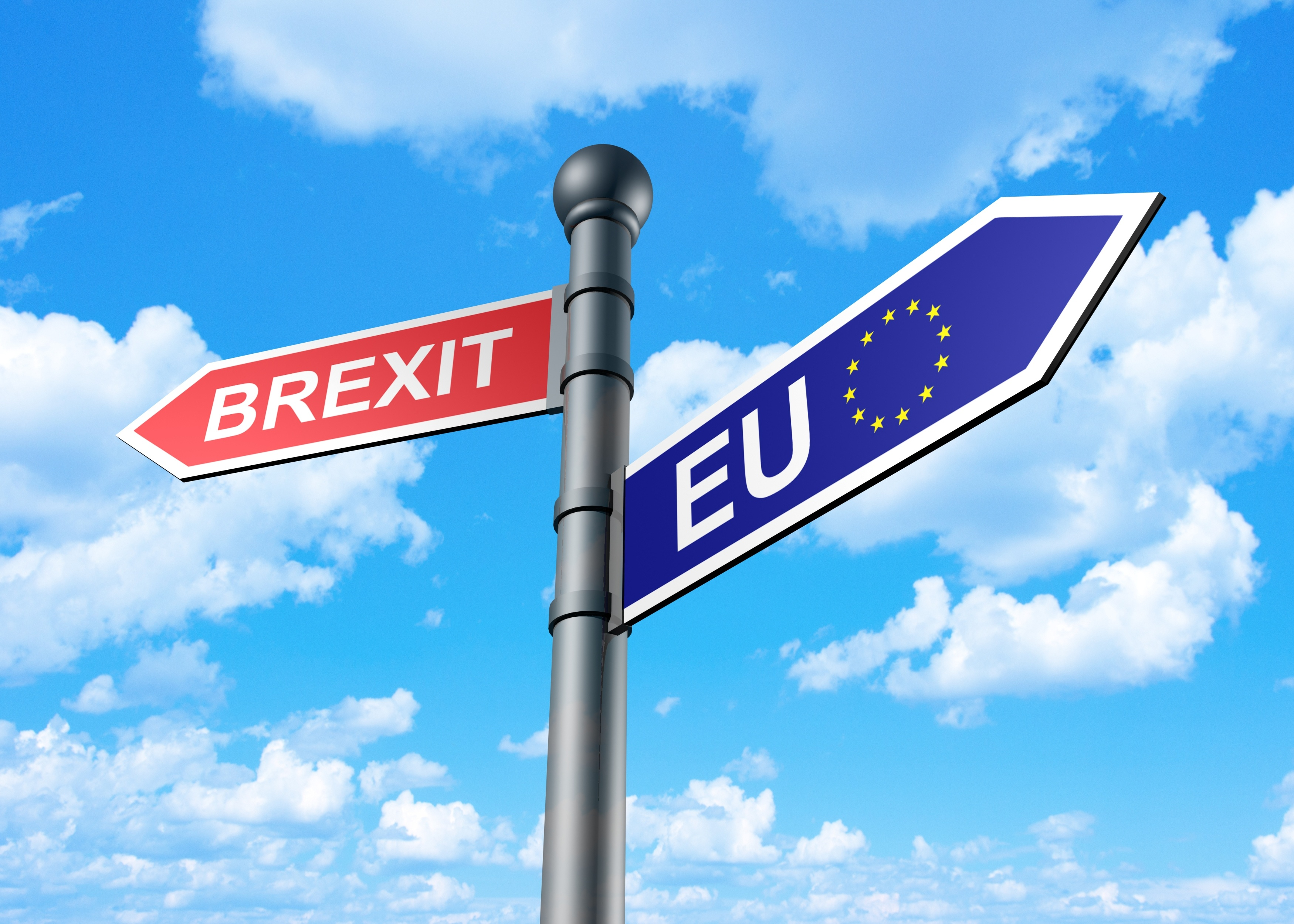 Brexit street sign, brexit to the left EU to the right.jpg